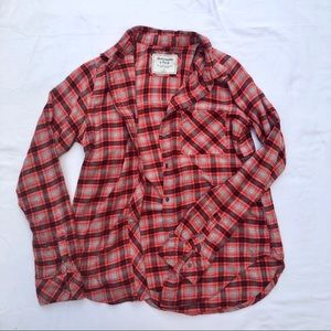 Abercrombie & Fitch plaid shirt.